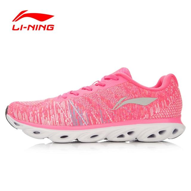 Li-Ning Women's Light Running Shoes Woven Li-Ning ARC Breathable Sneakers Cushioning LiNing Sports Shoes Li-Ning ARHL034 XYP441