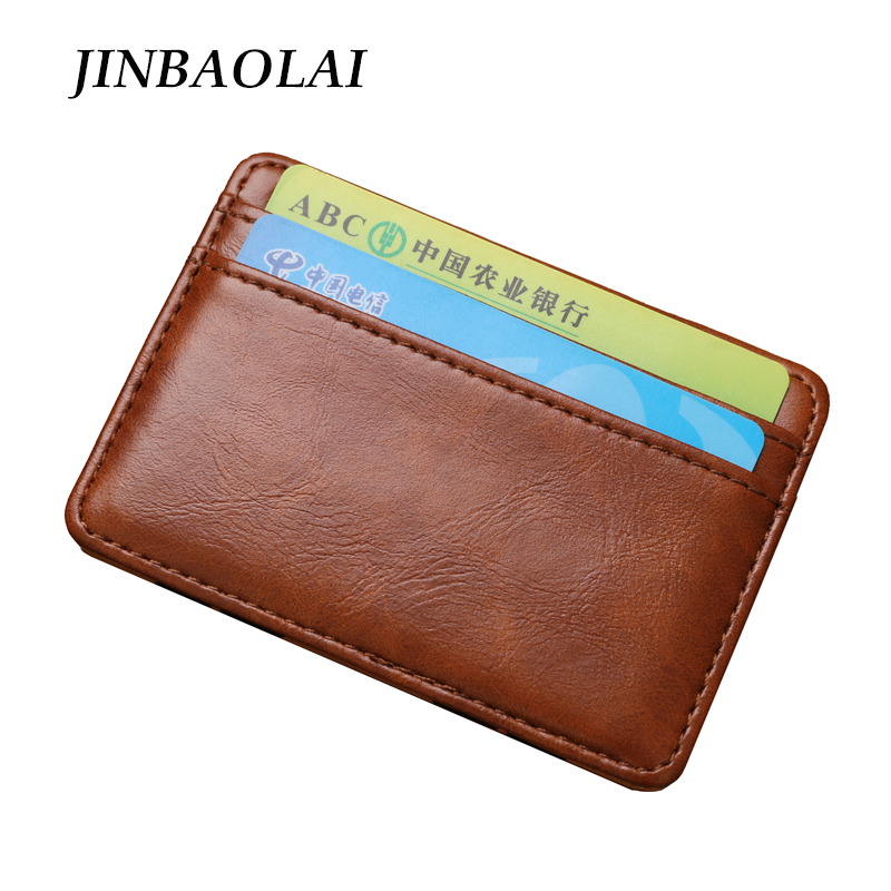 Hot Selling Fashion Magic Money Clip Men Wallets Vintage Leather Magic Wallet ID Credit Card Cash Holder Pocket Mini Purse new men genuine wallet fashion casual pu credit id card holder purse wallet long business male clutch hot selling 2016