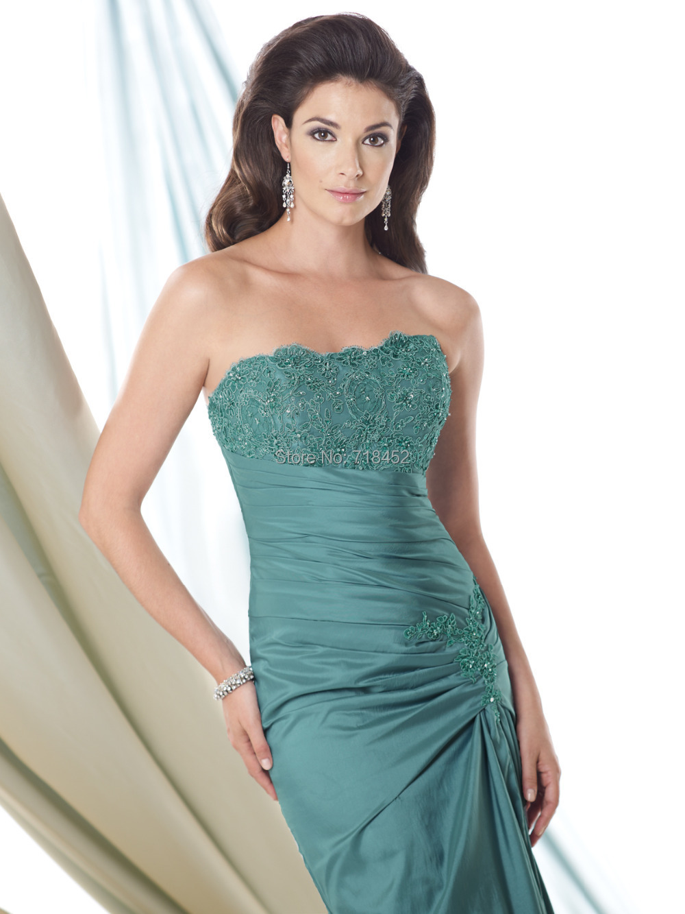 Fashion Design Turquoise Mother of Bride Dress with Jacket ...