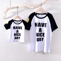 New Family Look Summer Cute Pattern Family Men Boy T Shirt Father And Son Clothes Top