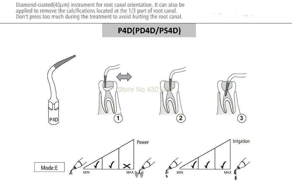 Image 2 - 2 pcs PS4D Ultrasonic Scaler Dental Endodontia Endo Dicas Escaladas Endodoncia Dica PARA SIRONAClareamento dos dentes   -
