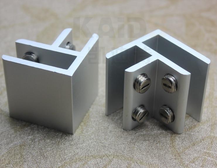 20pcs Lot Aluminum 2 Way 90 Degree Corner Glass Connector