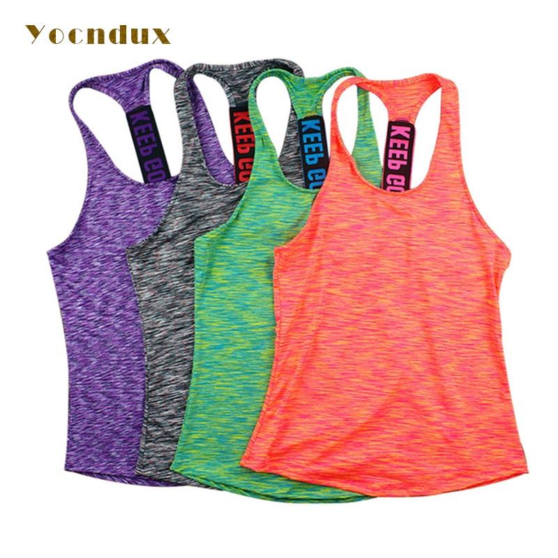 ✔  Yocndux Женщины Профессиональный жилет для йоги без рукавов Quick Drying Бег Топы Тренажерный зал сп ✔
