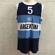 dfd0b94f88 JINYINGHUO Retro MANU GINOBILI TEAM ARGENTINA JERSEY NAVY BLUE SEWN NEW ANY  SIZE