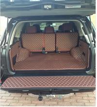 Gut! spezielle kofferraum-matten für Neue Toyota Land Cruiser 200 5 sitze 2017-2010 wasserdicht boot teppiche liner für LC200, freies verschiffen