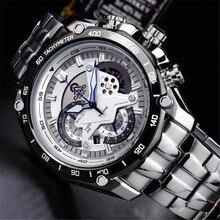 CAINO NOUVEAU montres hommes Top Marque de mode montre Sport bracelet de Quartz mâle relogio masculino hommes Pleine Acier