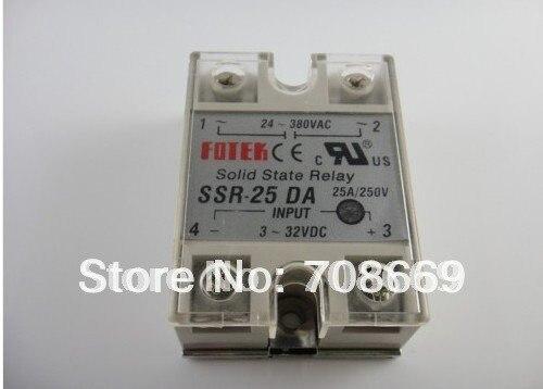 250 pièces 25A SSR, entrée 3-32 V DC sortie 24-380 V AC monophasé ssr relais à semi-conducteurs