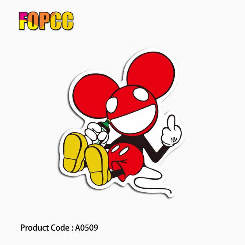 漫画ミッキーマウスのステッカー子供のためのおかしい Diy デカールおもちゃ荷物電話スタイリング家の装飾ラップトップ車のステッカー
