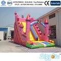 2016 Tamaño Niños Juguetes Inflables Castillo de Diapositivas de Grandes Dimensiones Utilizados Para El Exterior