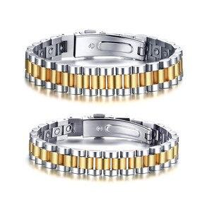 Image 3 - ZORCVENS 99.999% czysta bransoletka z germanu dla kobiet Korea popularne zdrowie magnetyczne germanu energii ze stali nierdzewnej biżuteria