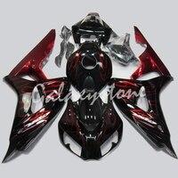 Красный и голубой пламени роспись Обтекатели подходит мотоцикла Honda CBR 1000 RR 2006 2007