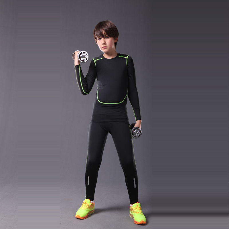 2017 Kids Compression Running Set Sportswear Soccer
