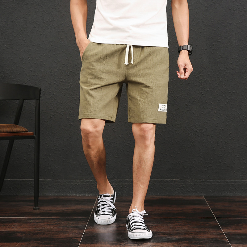 2018 Mens Shorts Casual Bermuda Fashion Male Linen Soft and Comfortable Beach Shorts Men Cargo Shorts Bermuda Masculina