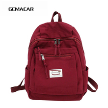 New Female Canvas Bag Candy Color Simple Solid Color Student Bag Youth Girl Backpack Leisure Travel Bag Small Fresh Design цены онлайн