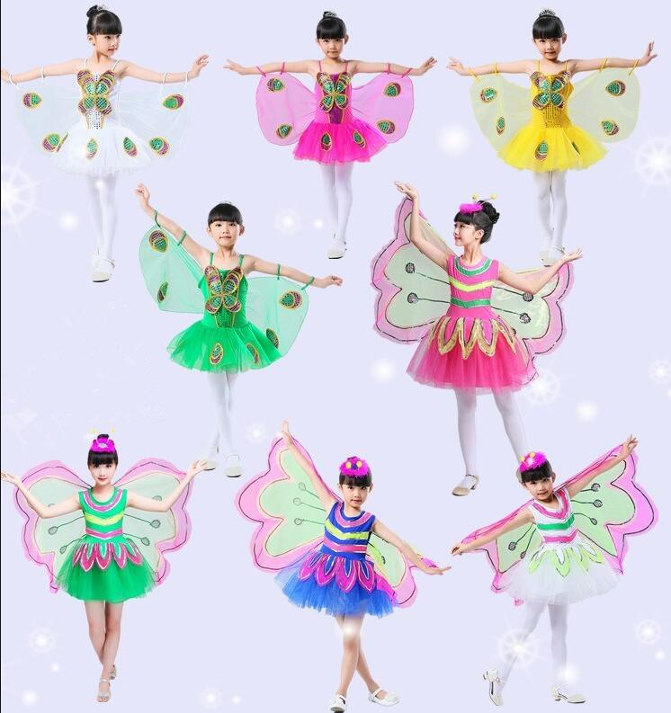 New Fantasy Child Fantasia Halloween Infantil Animal Butterfly Wings Carnival Girls Kids Butterfly Costume