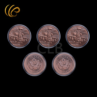 Wholesale United States Army Custom Coin AH-64 Apache Bronze Coins  with Plastic Case for Souvenirs and Gifts
