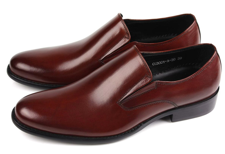 Fashion brown tan black flats mens dress shoes genuine leather man casual  business shoes formal wedding c63883dff09