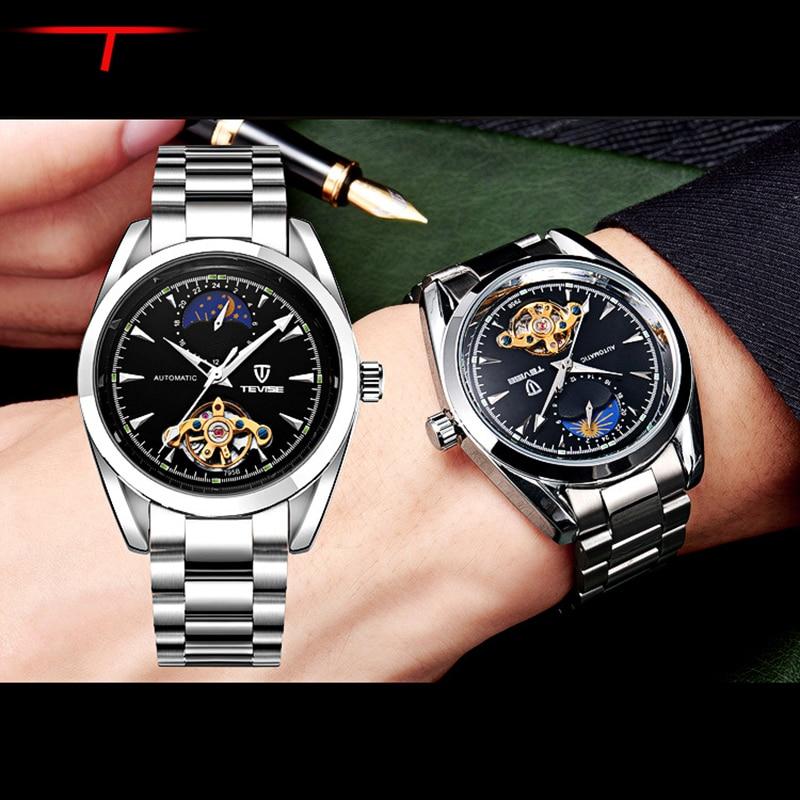 Luxury Men Wrist Watch With Calendar Night Light Relogios Feminino Stainless Steel Quartz Watch Handsome High-grade