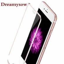 3D закругленные края полное покрытие закаленное стекло для iPhone 7 8 Plus Защита экрана для iPhone XS X розовое золото серебро черный красный