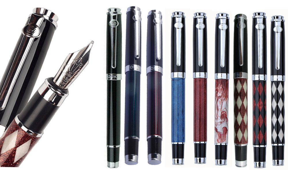 Fountain Pen M Iridium Nib or Gel Rollerball pen DUKE 116 standard signature pens office and school stationery   Free Shipping black germany duke bent nib 0 8mm art fountain pen business gift calligraphy pens office and school supplies free shipping