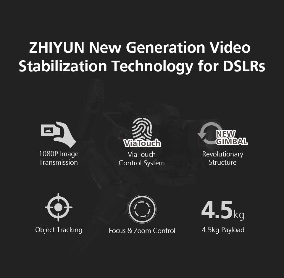 Zhiyun Crane 3 Lab Crane 2 Upgrade Version 3-Axis Gimbal Stabilizer for DSLR Cameras, 1080P Full HD Wireless Image Transmission 3