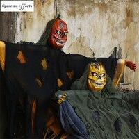 Horrible Halloween Hanging Ghost Skeleton Pumpkin Reaper Ghost Haunted House Escape Horror Halloween Decorations Halloween Ghost