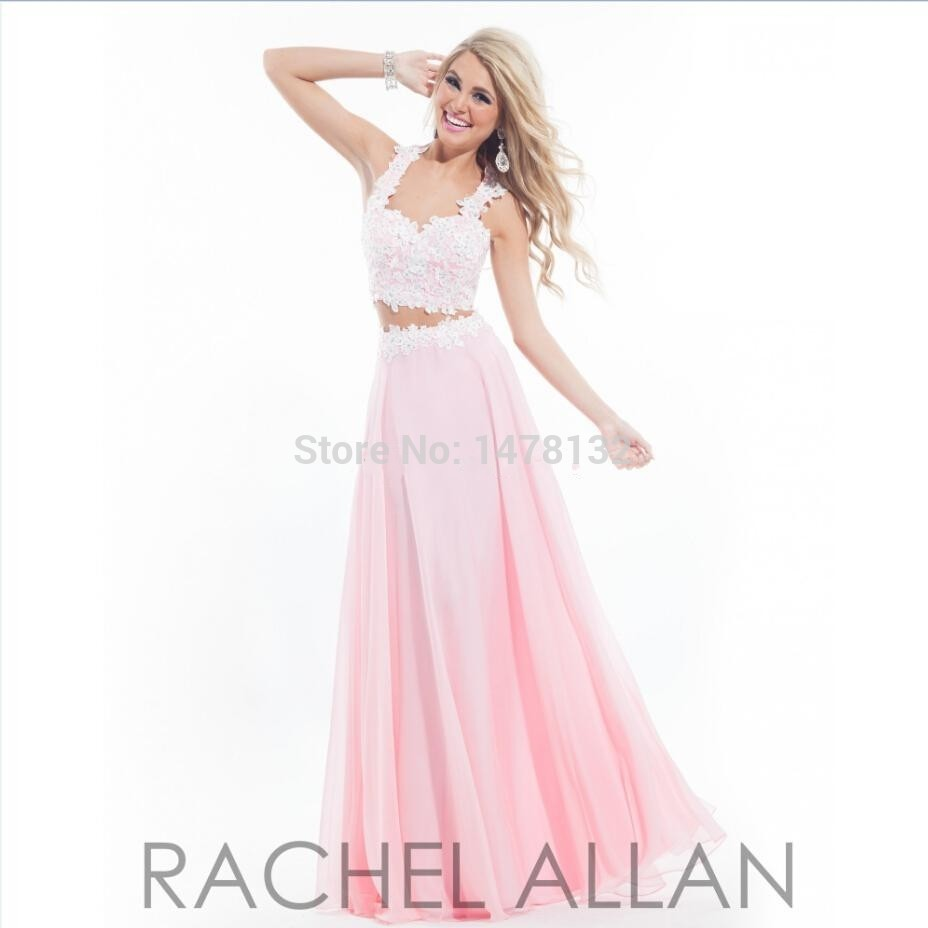 Light Pink Long Prom Dresses