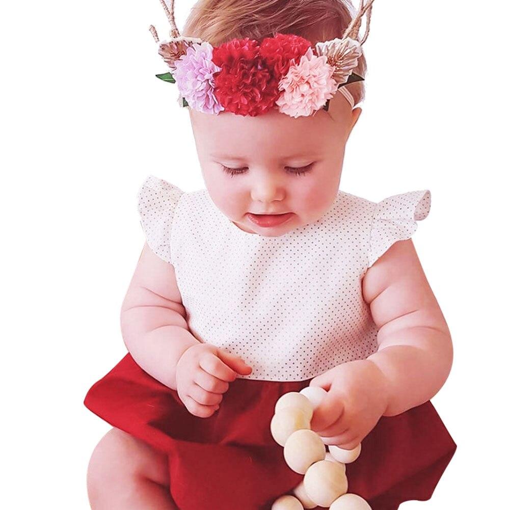 0-18 M Pasgeboren Baby Meisje Romper Fly Mouw Stip Romper Kleding - Babykleding