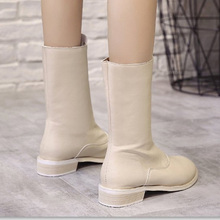 women boots 2019 New Arrivals Soft Leather Ankle Boots Women Comfortable Mid Heels For Ladies Spring Autumn Shoes