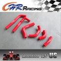 Radiador del silicón refrigeracion juego para Honda CRF450R CRF 450 R 2002 2003 2004 02 03 04 rojo