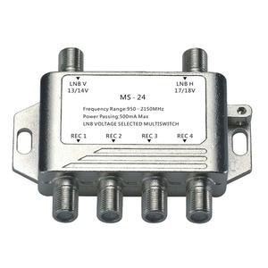 Image 1 - 2018 vente en gros 2 en 4 DiSEqC commutateur 4x1 DiSEqC commutateur antenne Satellite plat LNB commutateur pour récepteur de télévision
