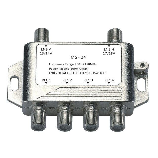 2018 vente en gros 2 en 4 DiSEqC commutateur 4x1 DiSEqC commutateur antenne Satellite plat LNB commutateur pour récepteur de télévision