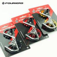 Fouriers дорожный велосипед задний переключатель карбоновая клетка Полный керамический подшипник шкив 12 т 16 т трансмиссия для RD 9000 9070 6870 6800 жок