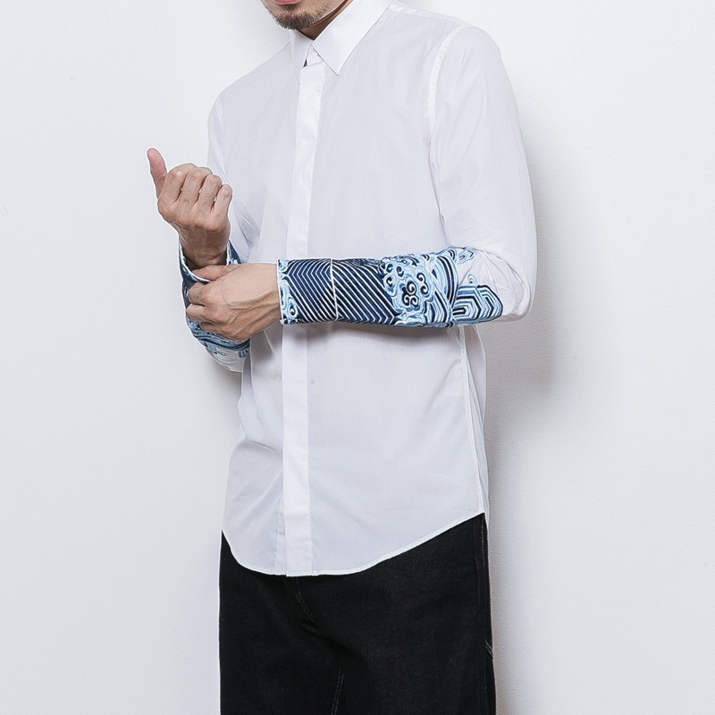 Traditional chinese clothing for men male Chinese mandarin collar shirt blouse wushu kung fu outfit tops linen shirt TA344-in Tops from Novelty & Special Use    1