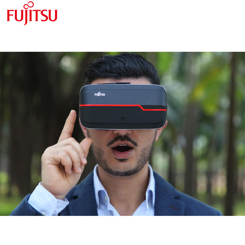 FujitsuFV200 Original 5.5inch VR Glasses Virtual Reality 3D Headset Google Cardboard VR BOX 2.0 Glass with Bluetooth controller vr glasses google cardboard vr box vr case virtual reality 3d glasses