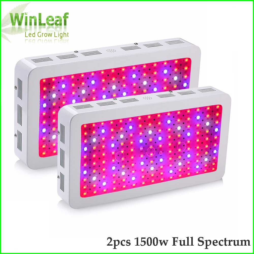 2pcs LED Grow Light Full Spectrum 1500W phyto lamp Double Chips For indoor plants hydroponics greenhouses tent led grow light 600w led grow light full spectrum leds plant lighting lamp for plants seedings flowers growing greenhouses 100 6w double chips