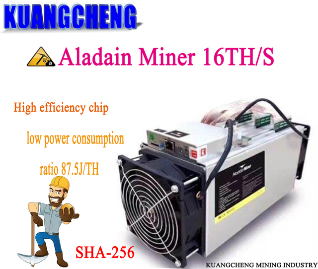 Старый 80-90% новый Aladain Шахтер первый веха ASIC шахтер 16TH/S ниже Потребляемая мощность, чем Antminer S9i, эффективный чип