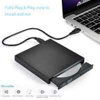 External DVD ROM Optical Drive USB 2.0 CD/DVD-ROM CD-RW Player Burner Slim Portable Reader Recorder Portatil for Laptop