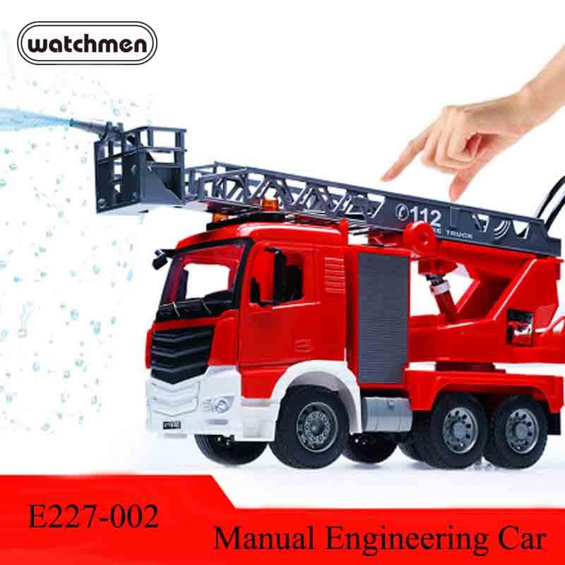 Génie manuel Voiture E227-002 camion de pompier 1:20 jouet pour enfant modèle voiture Manuel Inertie véhicule de chantier Pour Les camions de Pompiers Homme