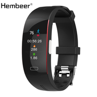 Hembeer P3 Plus Smart Band PPG+ECG Accurate Heart Rate Monitor Blood Pressure Monitor Watches Weather Report Bracelet pk Fitbits