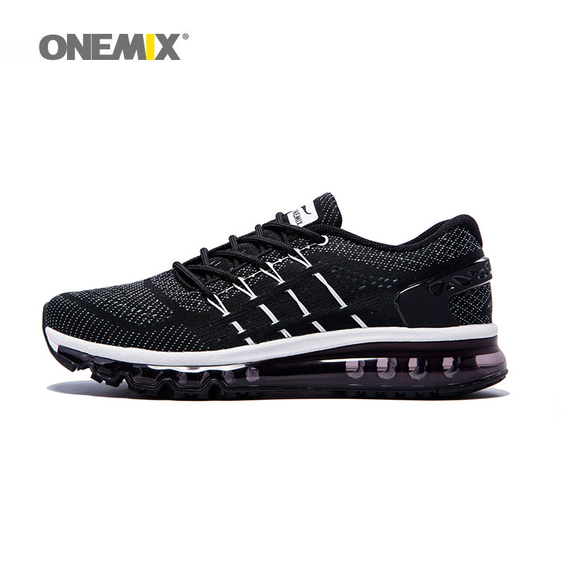 ONEMIX off black men sports cushion shoes running shoes for men fitness for male walking shoes men max big size 36-47.TN