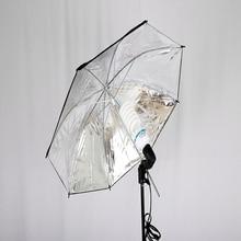 "TRUMAGINE 83 ס""מ עמיד מצלמה צילום סטודיו פלאש רך מטרייה תאורה ואביזרי צילום צבע כסף שחור"