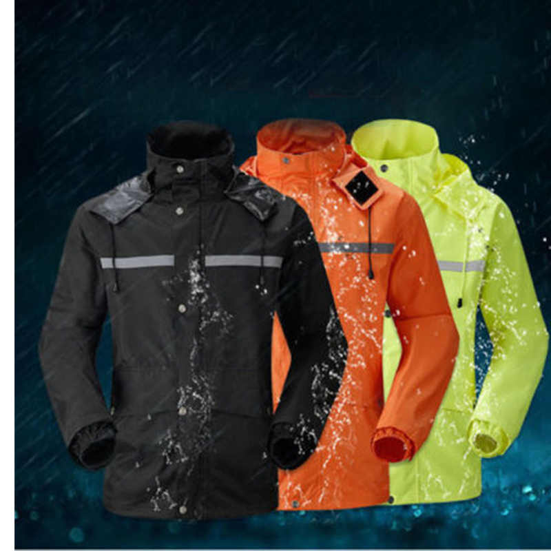 2018New men motorcycle jacket riding raincoat rain suit & pants women the trekking climbing scooter bicycle raincoat clothing
