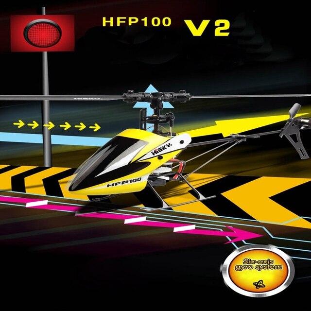 Hisky HFP100 V2 4CH 6 Ось Гироскопа Flybarless Вертолет БНФ