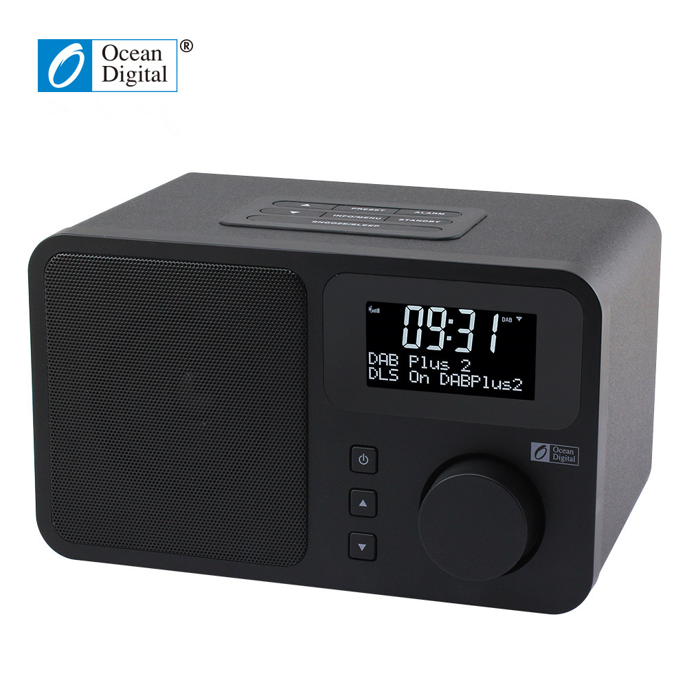 O-014 Ocean Digital DB-230B DAB Digital Radio DAB+FM Digital Bluetooth Dual alarm clock dual band Radio 5pcs pocket radio 9k portable dsp fm mw sw receiver emergency radio digital alarm clock automatic search radio station y4408