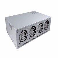 8 Графика сервер 4 поколения горной машины шасси ATX Одноместный Питание с 4*12 см охлаждения мяч вентилятор