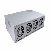 8 Graphics Server 4 Generation Mining Machine Chassis ATX Single Power Supply with 4 * 12cm Cooling Ball Fan