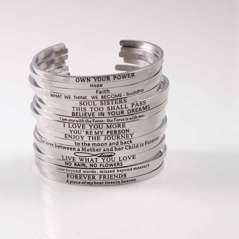 stainless customize man bracelets jewelry name logo bangles id personalized men engraved bracelet steel custom letters item