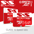 Весь Цена Продажи Suntrsi Карты Памяти Реальная Емкость Карта Micro Sd 64 ГБ 32 ГБ 16 ГБ 8 ГБ Microsd Карта Micro Sd Class 10 Бесплатно доставка