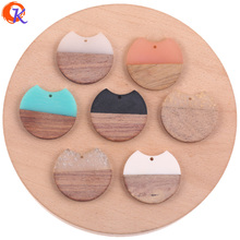 Cordial Design 20Pcs 34*36MM Jewelry Accessories/DIY Earrings Making/Round Shape/Natural Wood & Resin/Hand Made/Earring Findings